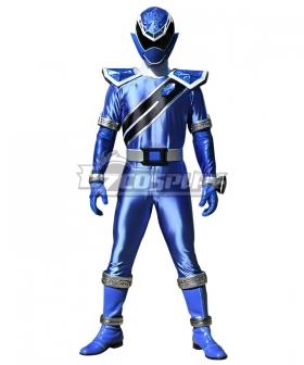 Power Rangers Super Sentai Mashin Sentai Kiramager Kiramai Blue Cosplay Costume