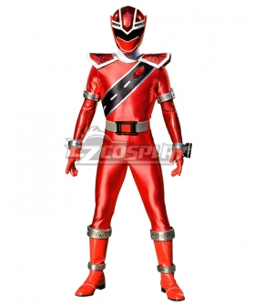 Power Rangers Super Sentai Mashin Sentai Kiramager Kiramai Red Cosplay Costume