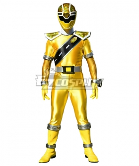 Power Rangers Super Sentai Mashin Sentai Kiramager Kiramai Yellow Cosplay Costume