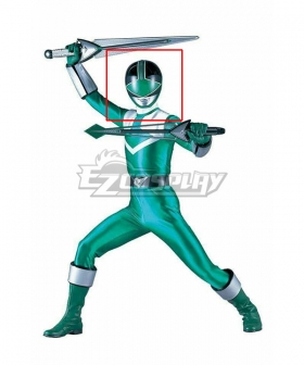 Power Rangers Time Force Time Force Green Helmet Cosplay Accessory Prop