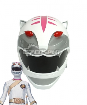 Power Rangers Wild Force White Wild Force Ranger Helmet 3D Printed Cosplay Accessory Prop