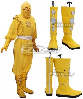Power Rangers Yellow Ninjetti Ranger Yellow Cosplay Shoes