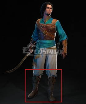 Prince of Persia: Sands of Time Remake Prince Brown Shoes Cosplay Boots