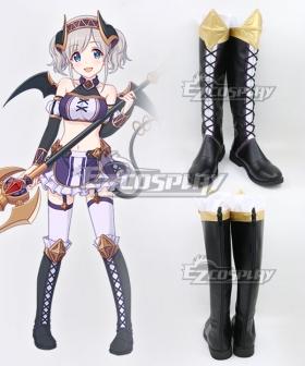 Princess Connect! Re:Dive Akari Kazemiya Black Shoes Cosplay Boots