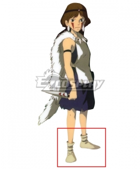 Princess Mononoke San White Shoes Cosplay Boots