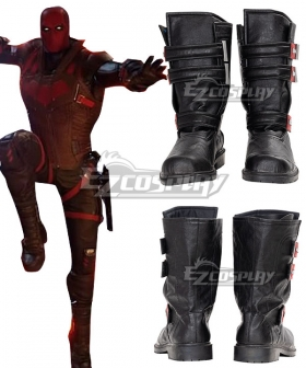 PS5 DC Gotham Knight Red Hood Jason Todd Black Cosplay Shoes