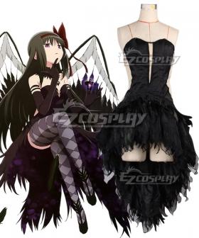 Puella Magi Madoka Magica Devil Homura Akemi Halloween Cosplay Costume