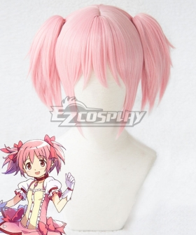 Puella Magi Madoka Magica Kaname Madoka Pink Cosplay Wig