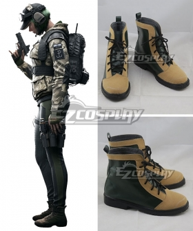 Rainbow Six Ela Yellow Cosplay Shoes