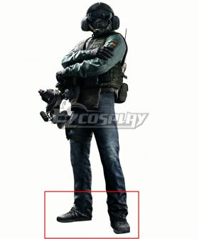 Rainbow Six Siege Jager Black Cosplay Shoes