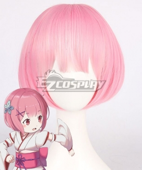 Re: Life In A Different World From Zero Ram Childhood Pink Cosplay Wig