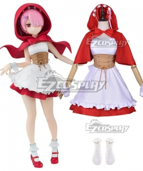 Re: Life In A Different World From Zero Ram Ren Little Red Riding Hood Cosplay Costume