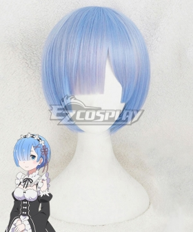 Re: Life In A Different World From Zero Rem Blue Cosplay Wig