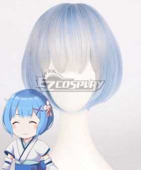 Re: Life In A Different World From Zero Rem Childhood Blue Cosplay Wig