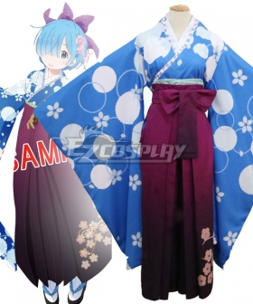 Re: Life In A DiffeRent World From Zero Rem Kimono Cosplay Costume