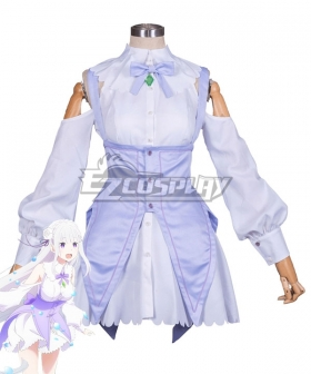 Re: Life In A Different World From Zero Re:Zero Kara Hajimeru Isekai Seikatsu: Memory Snow Emilia Cosplay Costume