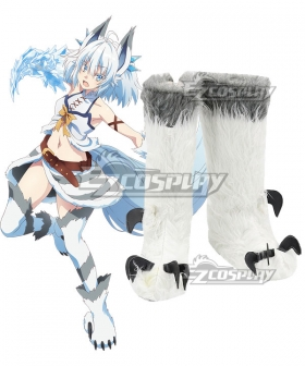 Redo of Healer  Setsuna Silver Shoes Cosplay Boots