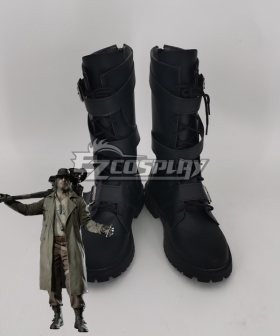 Resident Evil 8 Village Karl Heisenberg Black Shoes Cosplay Boots
