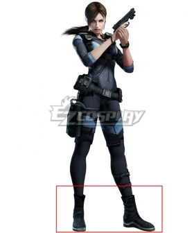 Resident Evil: Revelations Jill Valentine Black Shoes Cosplay Boots
