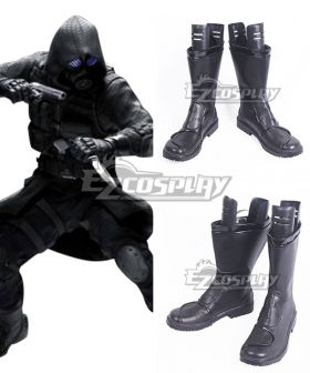 Resident Evil Umbrella Security Service Vector Black Shoes Cosplay Boots