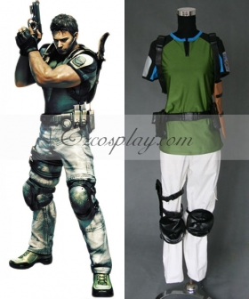 Resident Evil 5 Chris Redfield Cosplay Costume - Only Top