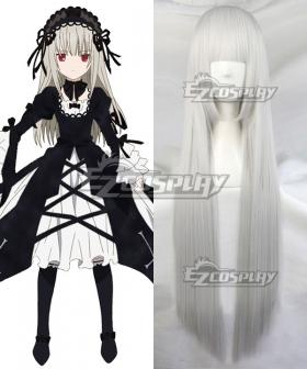 Rozen Maiden Suigintou Silver Cosplay Wig