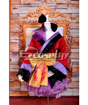 Ruler Vocaloid-ruka PROJECT DIVA2 Courtesan Kimono Lolita Deluxe Version Cosplay Costume