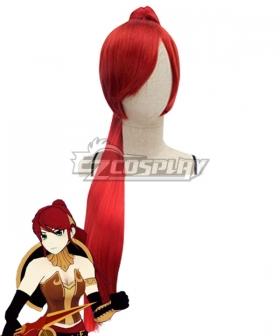 RWBY Beacon Academy Team JNPR Pyrrha Nikos Red Hair Cosplay Wig