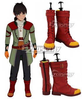 RWBY Volume 6 Oscar Pine Red Shoes Cosplay Boots