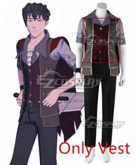 RWBY Volume 7 Qrow Branwen Cosplay Costume - Only Vest