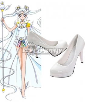 Sailor Moon Stars Sailor Cosmos Chibi Chibi White Cosplay Shoes