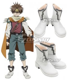 Saiyuki Reload Blast Son Goku White Cosplay Shoes