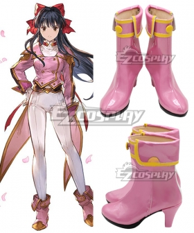 Sakura Wars Sakura Taisen Sakura Shinguji Pink Cosplay Shoes