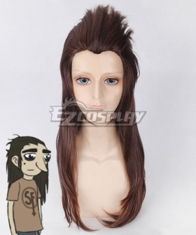 Sally Face Larry Johnson Brown Cosplay Wig