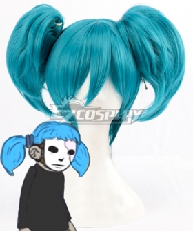 Sally Face Sal Fisher Halloween Blue New Edition Cosplay Wig