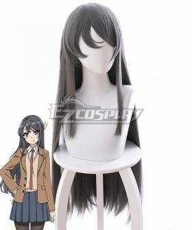 Seishun Buta Yaro wa Bunny Girl-senpai no Yume o Minai Mai Sakurajima Dark Grey Cosplay Wig - B477A
