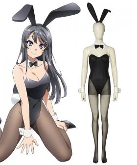 Seishun Buta Yarou Wa Bunny Girl Senpai No Yume Wo Minai Sakurajima Mai Bunny Girl Cosplay Costume - A Edition
