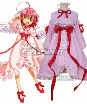 Shugo Chara Hinamori Amu Amulet Angel Pink Dress Cosplay Costume