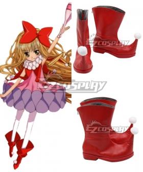 Shugo Chara Rima Mashiro Red Cosplay Shoes