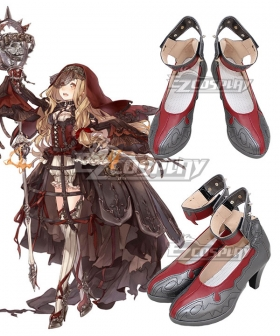SINoALICE Little Red Riding Hood Gray Cosplay Shoes