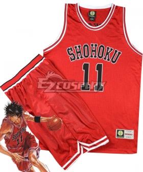 Slam Dunk Rukawa Kaede Shohoku Cosplay Costume