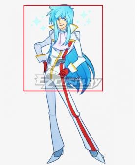 Space Dandy Prince Blue Cosplay Wig