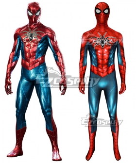 PS4 Marvel Spider-Man Spider man Big Time Zentai Jumpsuit Cosplay Costume