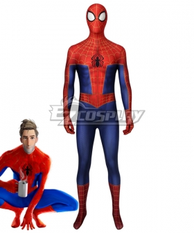Spider Man Into the Spider Verse  Peter Parker Zentai Jumpsuit Cosplay Costume