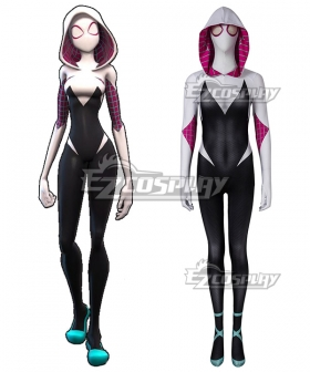 Spiderman Spider-Man: Into the Spider- Verse Gwendolyn Maxine Gwen Stacy Zentai Jumpsuit Cosplay Costume
