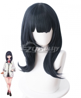 SSSS.Gridman Rikka Takarada Dark Blue Cosplay Wig - 480B