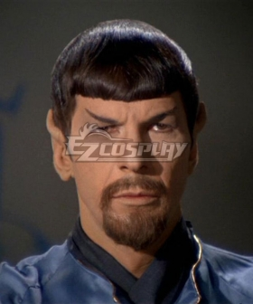 Star Trek Mirror Mirror Spock Black Cosplay Wig - Wig +Moustache