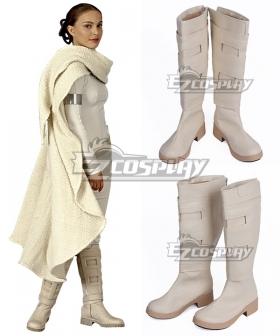 Star Wars Episode II Attack of the Clones Padme Naberrie Amidala Brown Shoes Cosplay Boots