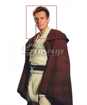 Star Wars Jedi Brown Cosplay Wig