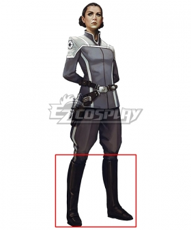 Star Wars Separatist Officer  Black Shoes Cosplay Boots